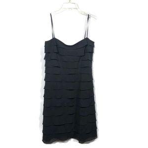 Tadashi Shoji Silk Tiered Mini Dress